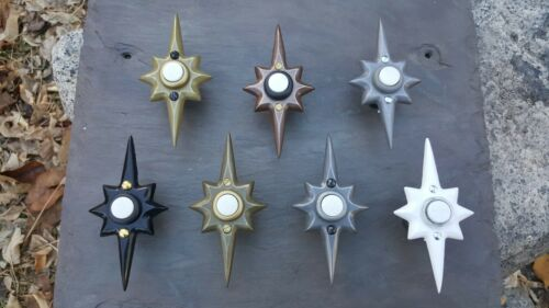 New Mid Century Modern - MCM - Custom Metallic - Star Resin Doorbell - NuTone