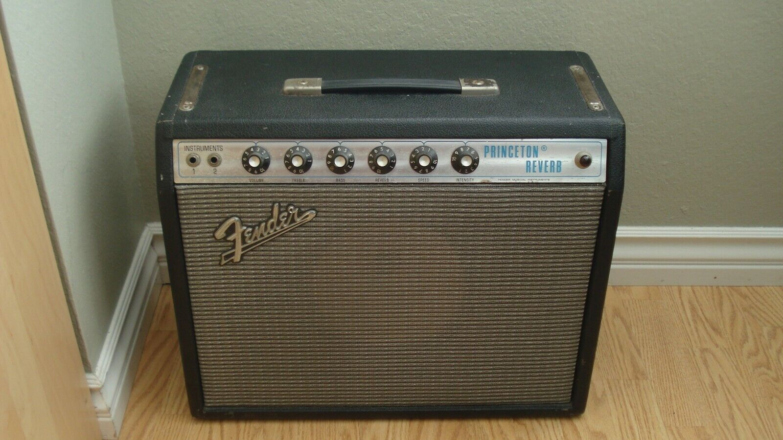 Vintage 1973 Fender Princeton Reverb Amp Newly Serviced Sounds Awesome  - $1,699.99