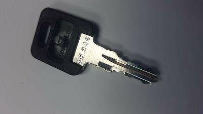 CH751-BRASS ONLY 2 FIC PURPLE Plastic Head RV Key Code Cut HF301-HF351