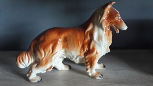 "VIntage Ceramic Collie Figurine 10"""
