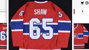 ANDREW SHAW SIGNED CANADIENS MONTRÉAL BECKETT COA