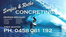 SURFIE´S & RUTH´S CONCRETING Cameron Park Lake Macquarie Area Preview