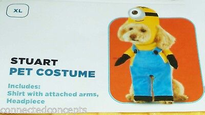 Despicable Me Minion Stuart Halloween Dog Costume (SIZE XLarge) NEW! - Dog Costume Minion