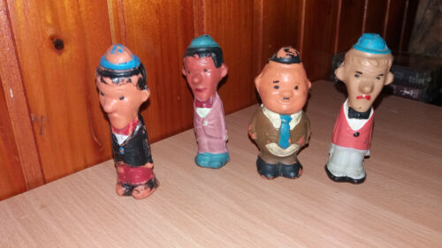 LAUREL AND HARDY VINTAGE RUBBER TOY DOLL YUGOSLAVIA