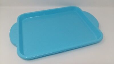 Cheap Serving Trays (Plastic Serving Tray with Handles 39.5cm x 27.5cm Blue Colour  RSW)