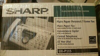 Brand New Sharp Ux-p115 Plain Paper Fax Machine Phone Copier Facsimile