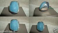 Grande Anello Fascia Ring Acquamarina Nigeria Aquamarine Azzurra Argento 925 15 -  - ebay.it