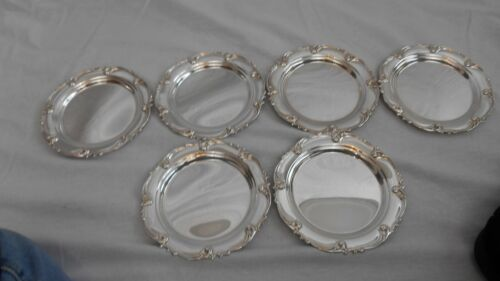 6 Rhapsody New by International Sterling Silver Bread and Butter Plates (#2138)