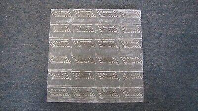 Vintage Schnopps Metal Impression Plate fror plug Tabacco
