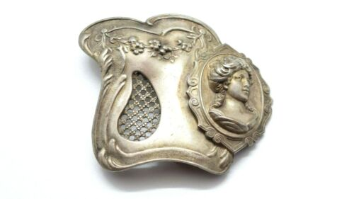 Art Nouveau Cameo Belt Buckle