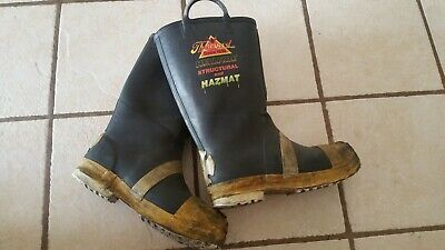12 Medium Thorogood Firefighting Steel Toe Rubber Boot Turnout Gear 6
