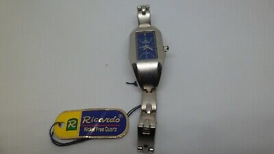 RICARDO Ladies Watch silvertone bracelet slimline face