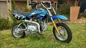 ATOMIK MOTO X 50CC MOTOR PIT DIRT BIKE MOTOCROSS TRAIL MX Narre Warren Casey Area Preview