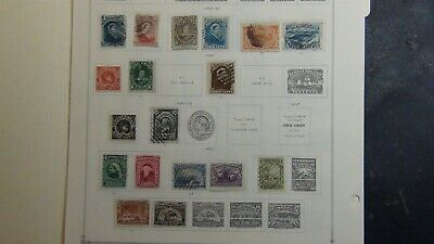 Newfoundland stamp collection on Scott Int'l pages w/ est # 109 or so to '49