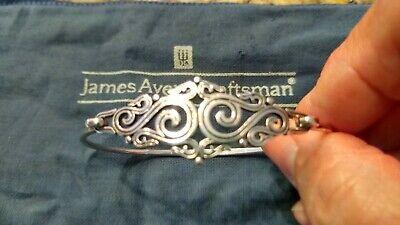 JAMES AVERY Sterling Silver SCROLL FILIGREE Hook BRACELET~6.5