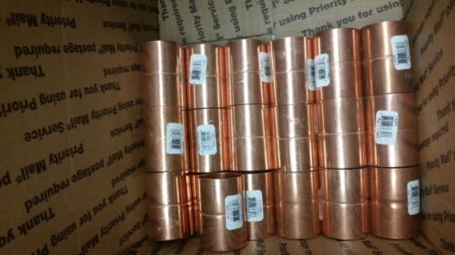 "19 pcs Copper Coupling with Stop, C x C Conn. Type, 1-1/4"" Tube Size 1 1/4 sweat"