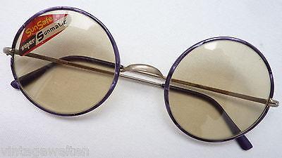 Runde Sonnenbrille mit übergroßen Gläsern in Colormatic Tönung + Echtglas Gr. L