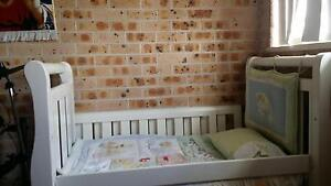 Baby bed/ change table/ tall boy set from love and care Edensor Park Fairfield Area Preview