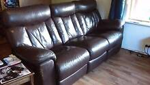 Dark brown leather suite Donnybrook Donnybrook Area Preview