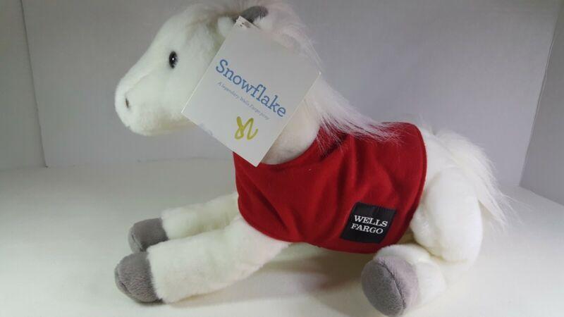 Snowflake Wells Fargo Bank Legendary Horse Pony Stuffed Plush 2011 NWT