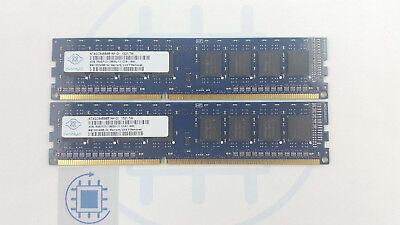 8GB (2x 4GB) DDR3 12800U 1600MHz Nanya Arbeitsspeicher Desktop RAM