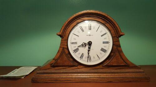 Vintage USA HOWARD MILLER Clock Model 613-103 Westminster Chime Oak Mantle Clock