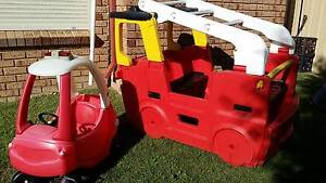 Red Fire Engine Playgym, Little Tikes Firetruck and Cubby House Ocean Reef Joondalup Area Preview