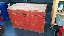 Vintage Red Wooden Trunk Lilyfield Leichhardt Area Preview