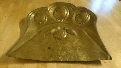 A VINTAGE BRASS CRUMB TRAY J .S & S SOLID BRASS MADE IN ENGLAND