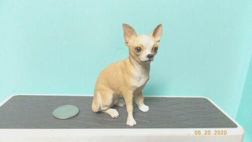 Blond Chihuahua Dog Figure