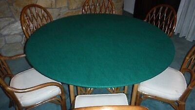 Green Poker Felt Table cloth - fits 60
