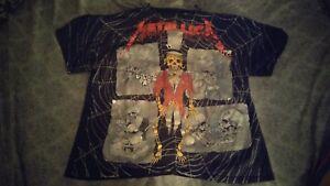 Vintage Metallica shirt xl Pushead all over print Crash Course in Brain Surgery