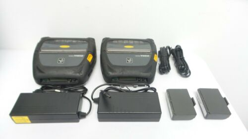 Lot of 2 Zebra ZQ520 Mobile Printer with Bluetooth PN: ZQ52-AUE0000-00