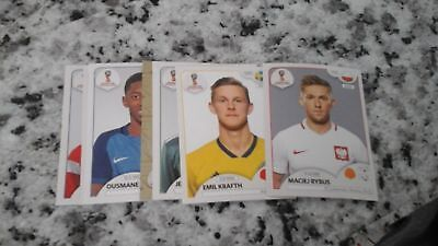 lot de 20 Image Sticker PANINI mondial FIFA World Cup Russia 2018 football