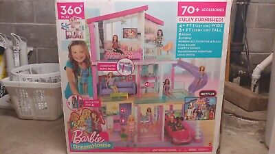 Barbie 360 Play DreamHouse Doll House Playset with 70+ Toys Accessories New