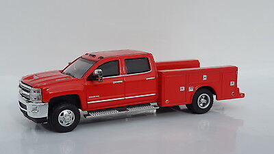 1:64 GreenLight *RED* 2018 Chevrolet Silverado 3500 HD DUALLY SERVICE TRUCK