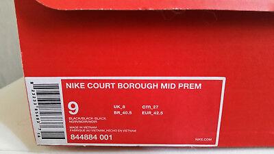 Nike court borough mid prem 42 1/2 gris