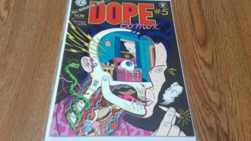 Dope Comix #5 Underground Comic Kitchen Sink Press 1984 Marijuana Issue HTF Rare