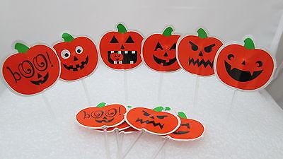 Wilton 12 Fun Pix / Picks for cupcakes - Halloween Pumpkin Jack O lanterns (Fun Halloween Cupcakes)
