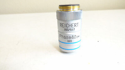 Reichert 1600.17 Phase 40 Dm 0.65 Microscope Objective
