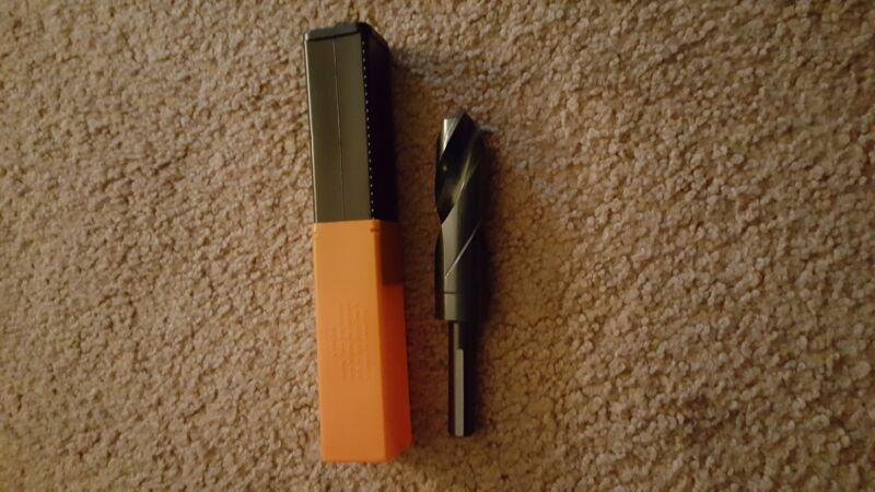 One 1-1/4 Hertel HSS drill bits