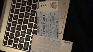 5 Seconds of Summer Soundcheck VIP Ticket Berwick Casey Area Preview