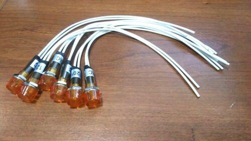 6 BBT 120 volt Waterproof Amber LED Hi-Profile Indicator Lights