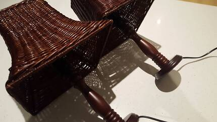 Two wicker type lamps in great condition