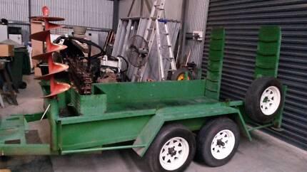 Dingo / Kanga trailer + earth trencher, almost new, both sold tog