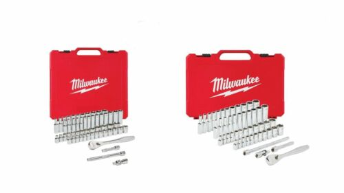 "Milwaukee 48-22-9004 50 Pc 1/4"" & 48-22-9008 3/8"" 56 Pc SAE/"