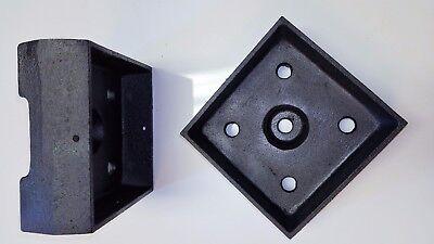 6 x 6 Post Base, Anchor-able Heavy Cast Aluminum Structural - Ornamental ()