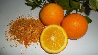 Orange Zest, Dehydrated Orange Peel, Free of Toxic Pesticides Organically Grown  Organic Orange Peel