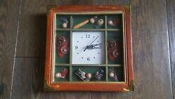 Baseball clock - wooden wall clock shadowbox