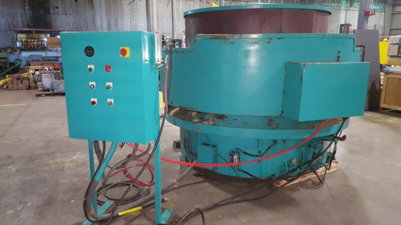 ROSEMONT RB LR 1420  20 CU FT 20 HP POLISH VIBRATORY TUMBLER finisher machine